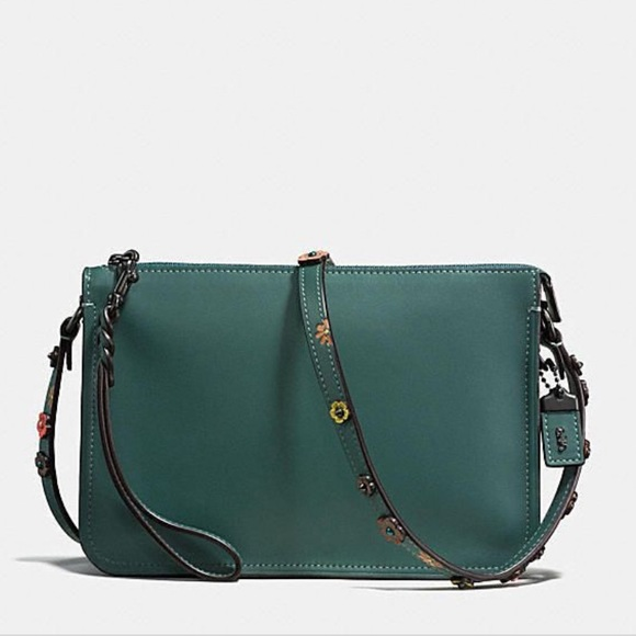 8b8bd1d3 Coach Tea Rose Soho Crossbody Bag in Turquoise